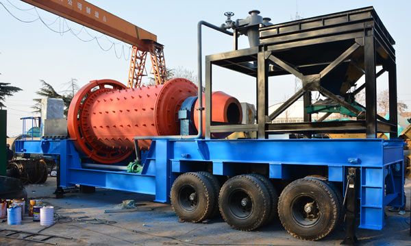 Mobile Ball Mill for Gold Ore in Mexico